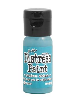 Tim Holtz Distress® Flip Top Paint Broken China, 1oz Paint Tim Holtz