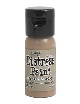 Tim Holtz Distress® Flip Top Paint Frayed Burlap, 1oz Paint Tim Holtz