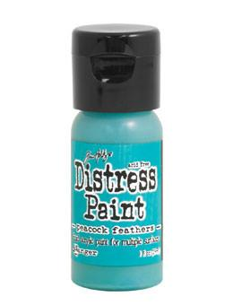 Tim Holtz Distress® Flip Top Paint Peacock Feathers, 1oz Paint Tim Holtz