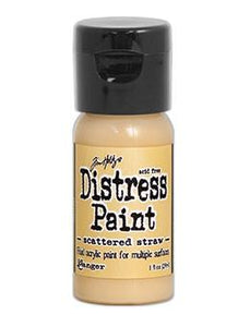 Tim Holtz Distress® Flip Top Paint Scattered Straw, 1oz Paint Tim Holtz