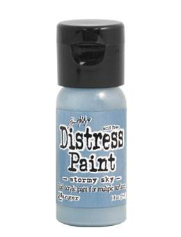 Tim Holtz Distress® Flip Top Paint Stormy Sky, 1oz Paint Tim Holtz