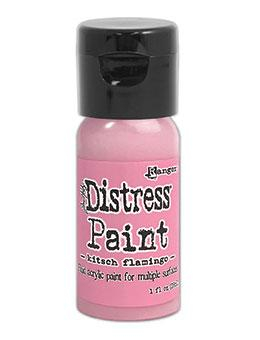 Tim Holtz Distress® Flip Top Paint Kitsch Flamingo 1oz Paint Distress