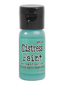 Tim Holtz Distress® Flip Top Paint Salvaged Patina 1oz Paint Distress