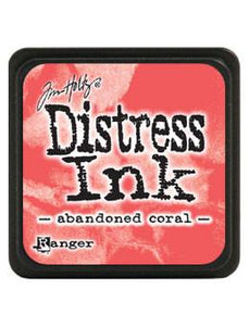 Tim Holtz Mini Distress® Ink Pad Abandoned Coral Mini Ink Pad Tim Holtz