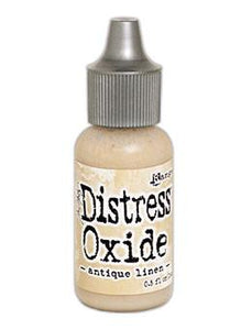Tim Holtz Distress® Oxide® Re-Inker Antique Linen, 0.5oz Re-Inker Tim Holtz