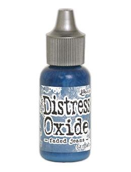 Tim Holtz Distress® Oxide® Re-Inker Faded Jeans, 0.5oz Re-Inker Tim Holtz