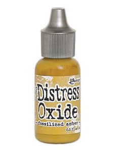 Tim Holtz Distress® Oxide® Re-Inkers Fossilized Amber, 0.5oz Re-Inker Tim Holtz