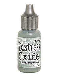 Tim Holtz Distress® Oxide® Re-Inker Iced Spruce, 0.5oz Re-Inker Tim Holtz