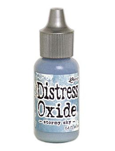 Tim Holtz Distress® Oxide® Re-Inker Stormy Sky, 0.5oz Re-Inker Tim Holtz