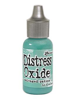Tim Holtz Distress® Oxide® Ink Pad Re-Inker Salvaged Patina 0.5oz Ink Distress