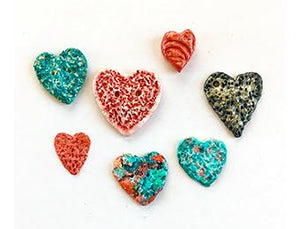 Textured Clay Hearts with Sharon AK Harris