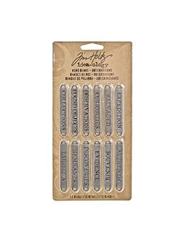Tim Holtz® Idea-ology Findings - Word Bands - Observations Findings Tim Holtz Other