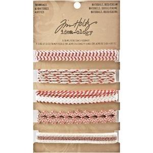 Tim Holtz® Idea-ology Trimmings - Red/Cream Idea-ology Tim Holtz Other
