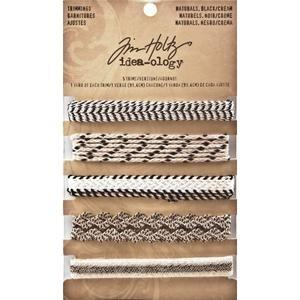 Tim Holtz® Idea-ology Trimmings - Black/Cream Idea-ology Tim Holtz Other