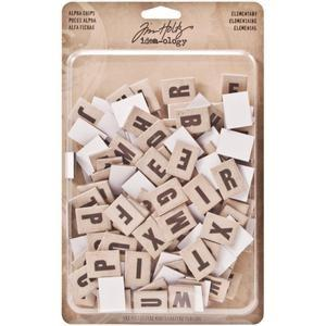 Tim Holtz® Idea-ology Findings - Alpha Chips - Elementary
