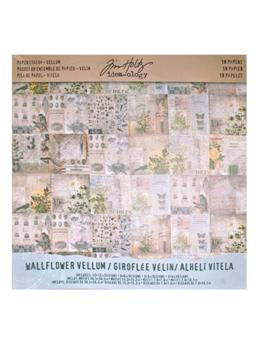 Tim Holtz® Idea-ology Paperie - Paper Stash Vellum - Wallflower Idea-ology Tim Holtz Other
