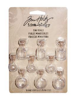 Tim Holtz® Idea-ology Findings - Tiny Vials Findings Tim Holtz Other