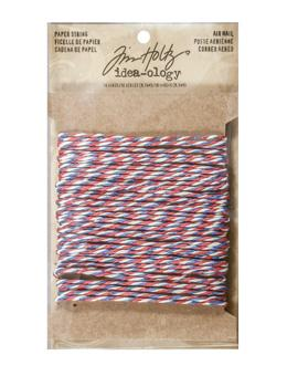 Tim Holtz® Idea-ology Trimmings - Paper String - Air Mail Idea-ology Tim Holtz Other