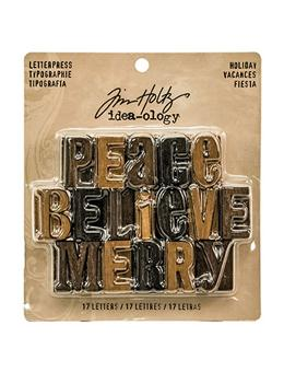 Tim Holtz® Idea-ology Findings - Letterpress Holiday Findings Tim Holtz Other