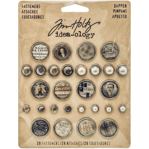 Tim Holtz® Idea-ology Fasteners - Dapper Idea-ology Tim Holtz Other