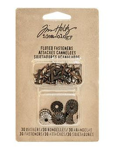 Tim Holtz® Idea-ology Fasteners - Fluted Fasteners