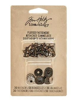 Tim Holtz® Idea-ology Fasteners - Fluted Fasteners Idea-ology Tim Holtz Other
