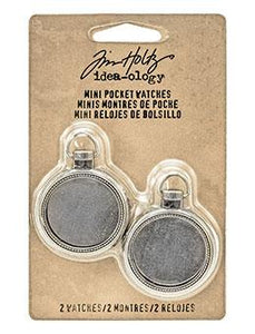 Tim Holtz® Idea-ology Findings - Mini Pocketwatches