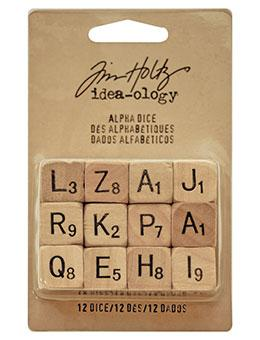 Tim Holtz® Idea-ology Findings - Alpha Dice Findings Tim Holtz Other