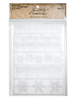 Tim Holtz® Idea-ology Findings - Alpha Parts - Frozen
