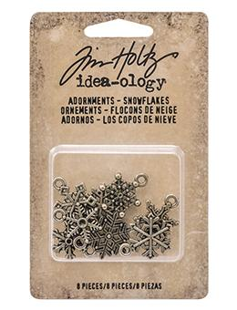 Tim Holtz® Idea-ology Findings - Adornments - Snowflakes