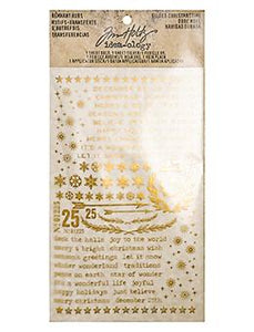 Tim Holtz® Idea-ology Paperie - Remnant Rubs - Gilded Christmas Time Idea-ology Tim Holtz Other