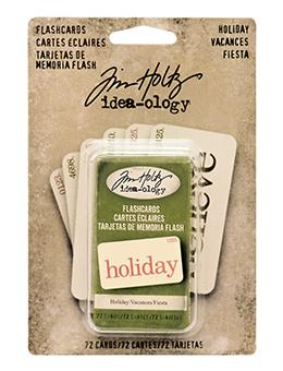 Tim Holtz® Idea-ology Paperie - Flash Cards - Holiday Idea-ology Tim Holtz Other
