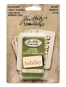 Tim Holtz® Idea-ology Paperie - Flash Cards - Holiday
