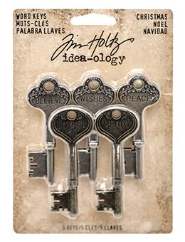 Tim Holtz® Idea-ology Findings - Word Keys - Chritmas Findings Tim Holtz Other