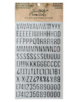 Tim Holtz® Idea-ology Paperie - Metallic Stickers - Alpha Silver