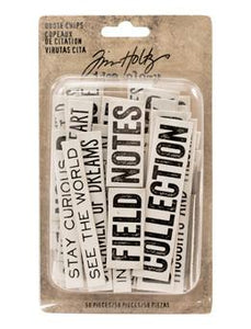 Tim Holtz® Idea-ology Paperie - Quote Chips Idea-ology Tim Holtz Other