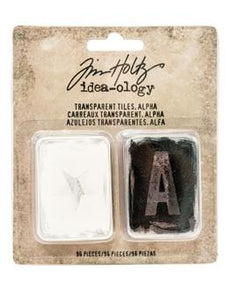 Tim Holtz® Idea-ology Findings - Alpha Transparent Tiles