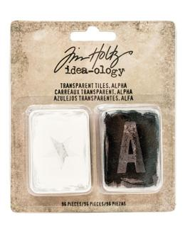 Tim Holtz® Idea-ology Findings - Alpha Transparent Tiles Findings Tim Holtz Other