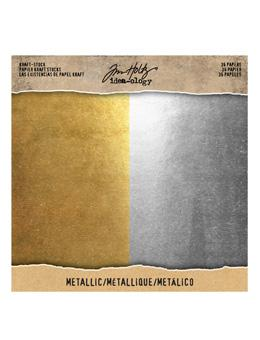 Tim Holtz® Idea-ology Paperie - Kraft Stock - Metallic Idea-ology Tim Holtz Other