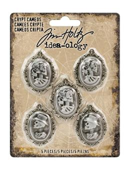 Tim Holtz® Idea-ology Findings - Crypt Cameos Findings Tim Holtz Other