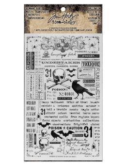 Tim Holtz® Idea-ology Findings - Remnant Rubs Halloween