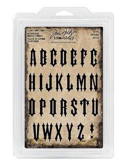Tim Holtz® Idea-ology Findings - Foam Stamps Gothic
