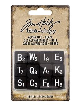Tim Holtz® Idea-ology Findings - Alpha Dice Black Findings Tim Holtz Other
