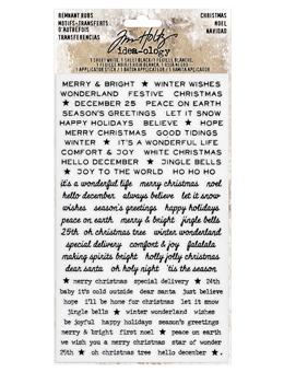 Tim Holtz® Idea-ology REMNANT RUBS, CHRISTMAS