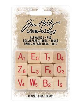 Tim Holtz® Idea-ology ALPHA DICE, RED Findings Tim Holtz Other