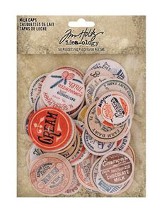 Tim Holtz® Idea-ology MILK CAPS Findings Tim Holtz Other
