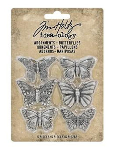 Tim Holtz® Idea-ology ADORNMENTS, BUTTERFLIES