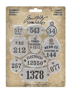 Tim Holtz® Idea-ology ADORNMENTS, FOUNDRY Idea-ology Tim Holtz Other