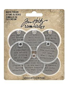 Tim Holtz® Idea-ology QUOTE TOKENS