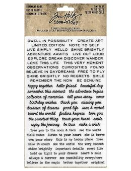 Tim Holtz® Idea-ology REMNANT RUBS, TINY TEXT